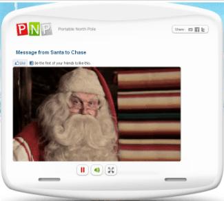 free santa video