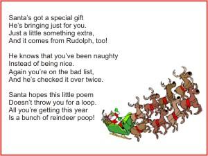 printable reindeer poop poem