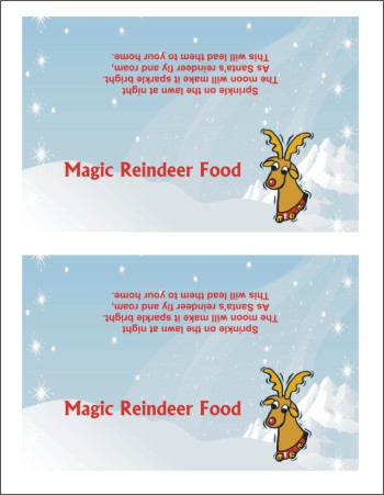 printable magic reindeer food poem