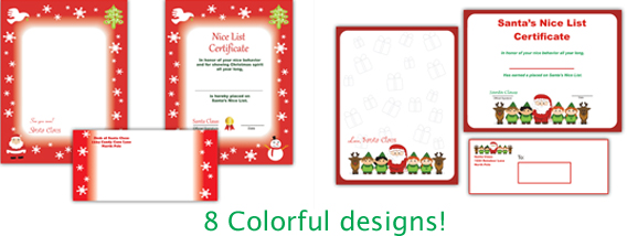Includes a printable Santa letter, Nice List certificate and envelope ...