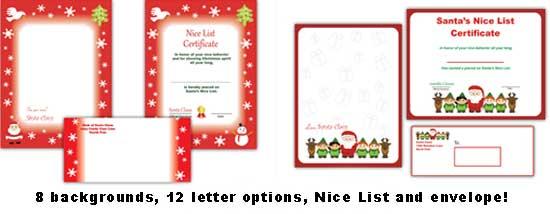 premium printable santa letters