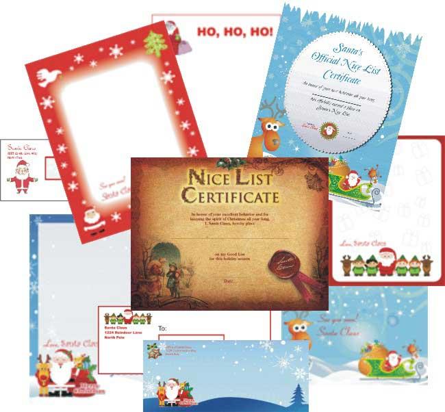 printable free santa letters online